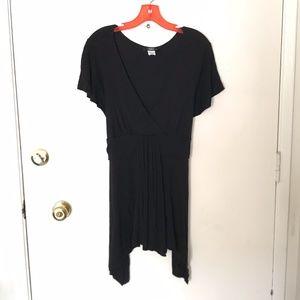 Plus Size ING Soft Black Tie Back Top 2X